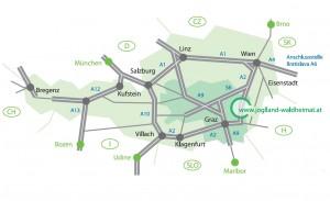Lageplan Region